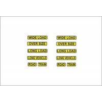 1:50 Decals - Jays Custom Truck Load Warning Signs Set