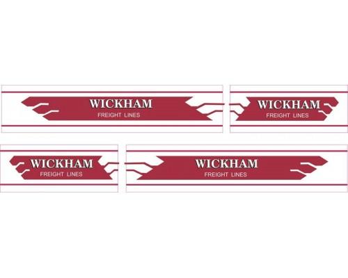 1:50 Decals - Jays Custom B-Double Trailer Set - Wickham Freight Lines