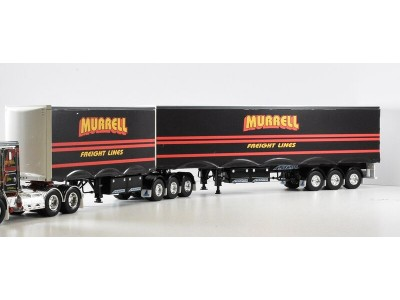 Jays Models 1:50 Decal - B-Double Trailer Set - Murrell Freight Line