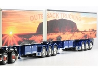 Jays Models 1:50 Decal - B-Double Trailer Set - Outback Trucking