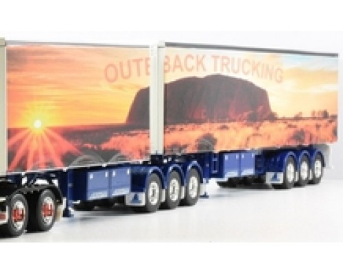1:50 Decals - Jays Custom B-Double Trailer Set - Outback Trucking