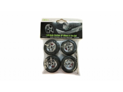 Greenlight 1:18 Mag Wheels and Tyre Set - 5 Spoke Style