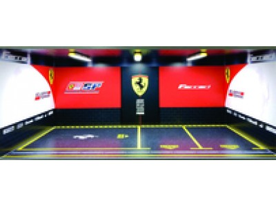 Jays Models 1:18 Garage Workshop Display with Lights - Ferrari 2+1 Car