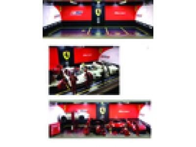 Jays Models 1:18 Garage Workshop Display with Lights - Ferrari 3+1 Car