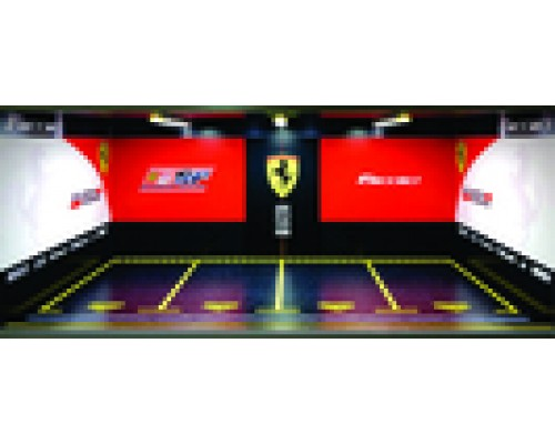 Jays Models 1:18 Garage Display with Lights - Ferrari 4 Car