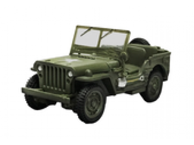 1:48 Scale Army Jeep