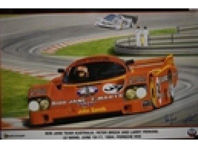 Le Mans 956 Porsche - Brock and Perkins  Large Print