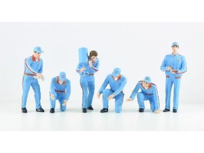 Jays Models 1:18 F1 Pit Crew Figurine Set - Team Gulf