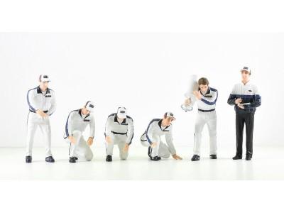 Jays Models 1:18 F1 Pit Crew Figurine Set - Team Martini Porsche