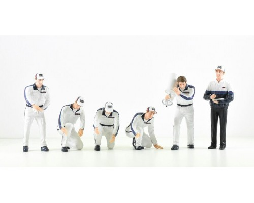 1:18 Scale F1 Pit Crew Figurine Set - Team Martini Porsche