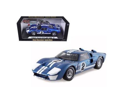 1:18 Scale 1966 Ford GT40 Mark II Blue