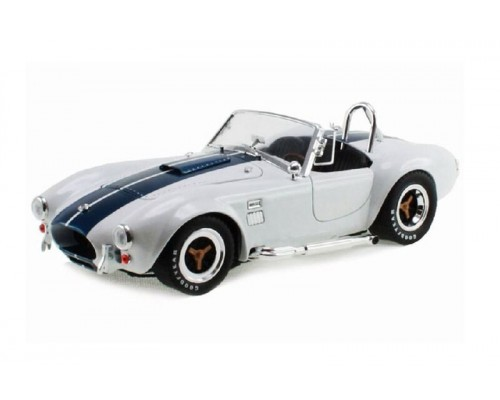 Shelby Collectibles 1:18 1965 Shelby Cobra 427 S/C -  White with Blue Stripes