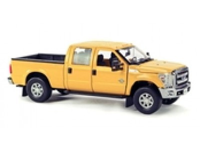1:50 Scale Ford F-250 XLT Pickup Truck with Crew Cab - Yellow