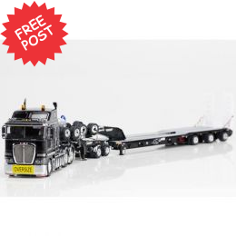 Kenworth K200 - Drake 3x8 Trailer & 2x8 Dolly - Black