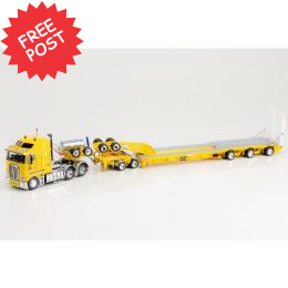Kenworth K200 - Drake 3x8 Trailer & 2x8 Dolly - Yellow