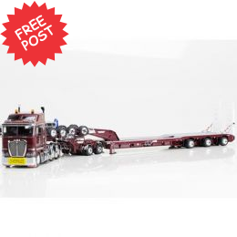 Kenworth K200 - Drake 3x8 Trailer & 2x8 Dolly -Burgundy