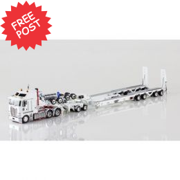 Kenworth K200 - Drake Dragline Bucket Trailer - White