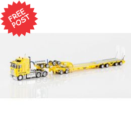 Kenworth K200 - Drake Dragline Bucket Trailer - Yellow
