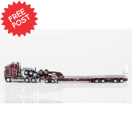 Kenworth K200 - Drake Dragline Bucket Trailer -Burgundy