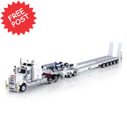 Kenworth C509 - Drake 5x8 Trailer & 2x8 Dolly - White
