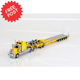 Kenworth C509 - Drake 5x8 Trailer & 2x8 Dolly - Yellow