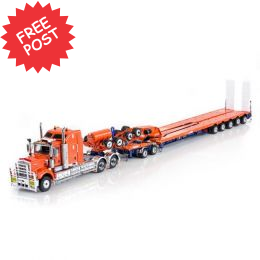 Kenworth C509 - Drake 5x8 Trailer & 2x8 Dolly - Orange