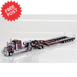 Kenworth C509 - Drake 5x8 Trailer & 2x8 Dolly -Burgundy