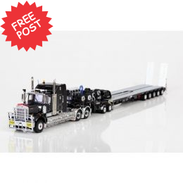 Kenworth C509 - Drake 5x8 Trailer & 2x8 Dolly - Grey