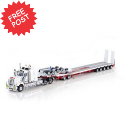 Kenworth C509 - Drake 5x8 Trailer & 2x8 Dolly - Wh/Red