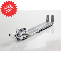 Drake 7x8 Steerable Trailer & 2x8 Dolly - White